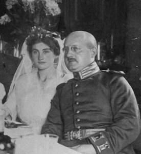 Hedwig und Sigmar Ury, Ausschnitt aus dem Hochzeitsbild, 1915. Bild: DZOK